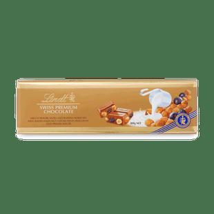 SWISS PREMIUM CHOCOLATE MILK RAISIN HAZELNUT 300G